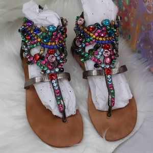 Jeffrey Campbell Vintage Prizzy Jeweled Sandals
